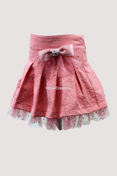 Нарядная юбка Deloras 0086 коралловый Deloras
