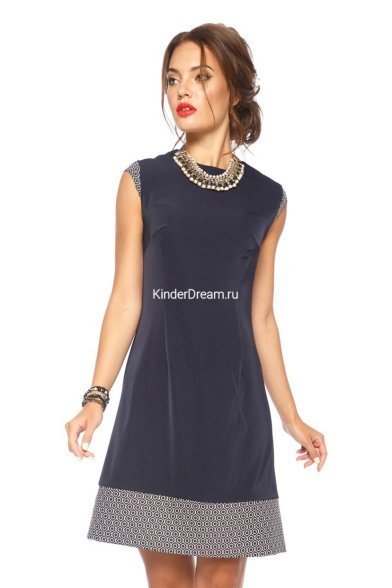 """Платье """"Лоренза"""" Leleya 3749 тёмно-синий Leleya"""