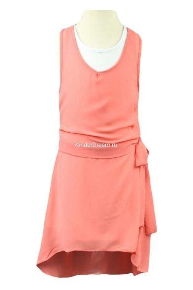 Нарядное платье (2 в 1) Deloras 26239 коралловый Deloras
