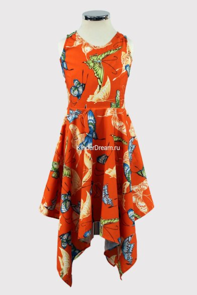 """Платье """"бабочка"""" Deloras 26314 оранжевый Deloras"""
