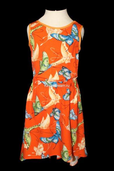 Платье без рукавов Deloras 26310 оранжевый Deloras