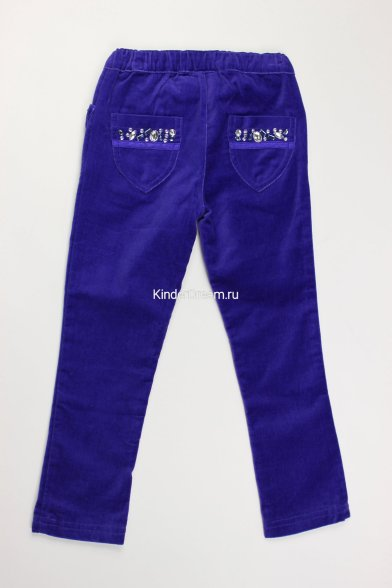 Брюки из бархата Deloras 0447 синий Deloras