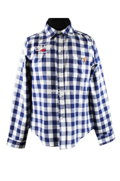 Хлопковая рубашка Colabear 110484 синий/белый  Colabear