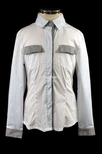 Стильная деловая рубашка Deloras 26433 белый Deloras