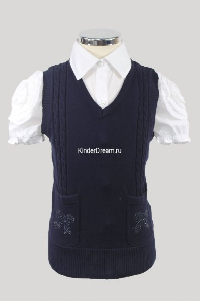 Вязаный жилет с карманами Vitacci