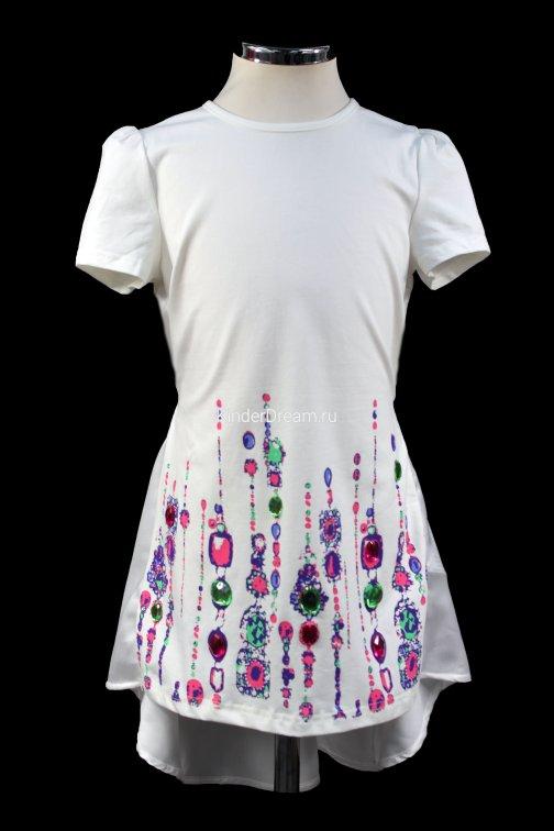 Оригинальная туника с удлинённой спиной Deloras 27260 розовый Deloras