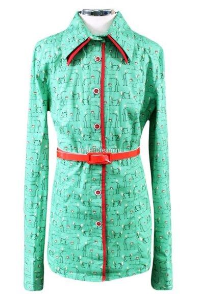 Модная яркая блузка Россия 1980 Россия