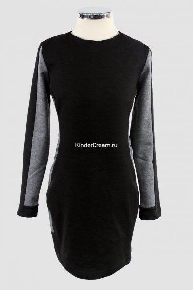 Коктейльное платье Vitacci 10203 чёрно-серый Vitacci