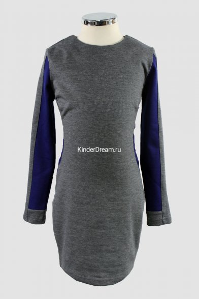 Коктейльное платье Vitacci 10203 серо-синий Vitacci