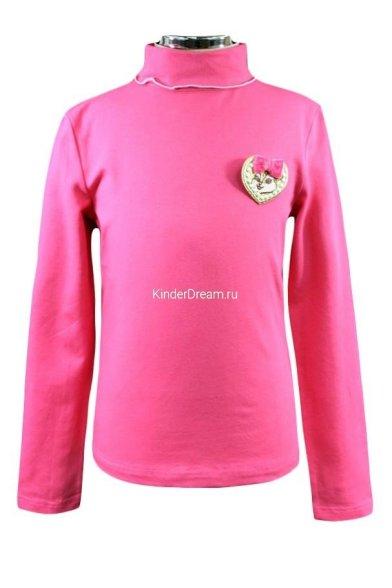 Водолазка с брошью Deloras 15502 розовый Deloras