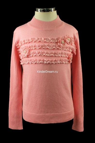 Красивый вязаный джемпер Deloras 15571 розовый Deloras