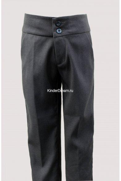 Классические брюки на широком поясе Vitacci 8410314 серый  Vitacci