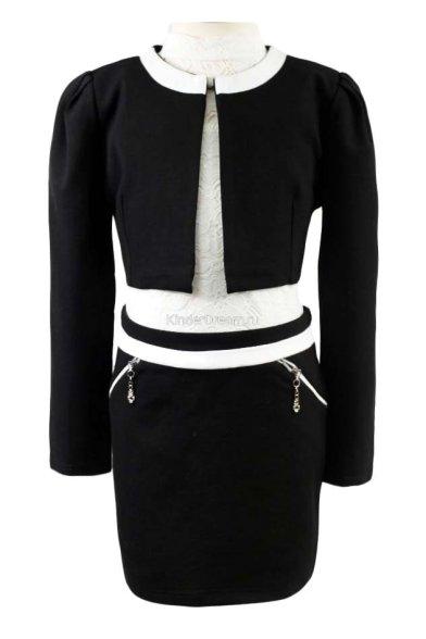 Элегантный костюм (жакет+юбка) Vitacci 10262-10213 чёрный Vitacci