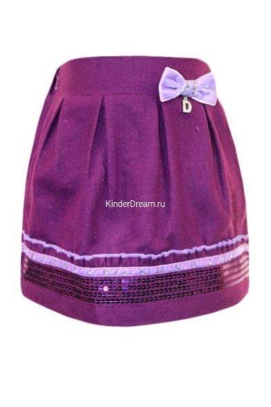 Шерстяная юбка Deloras 2253 фиолетовый Deloras