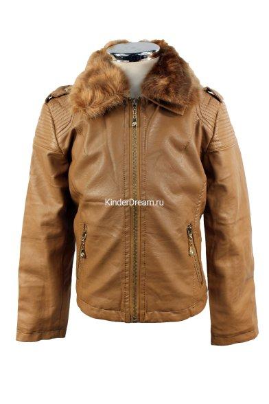 Утепленная кожаная куртка Olimpia story 1917 коричневый Olimpia story