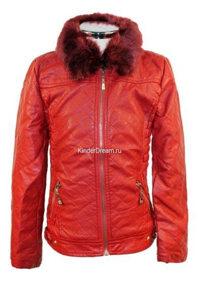 Утепленная кожаная куртка Olimpia story 1913 красный Olimpia story