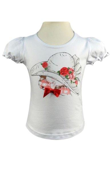 Очаровательная футболка с рукавами-фонариками Vitacci