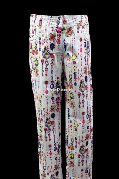 Летние брюки оригинальной расцветки Deloras 27268 белый Deloras