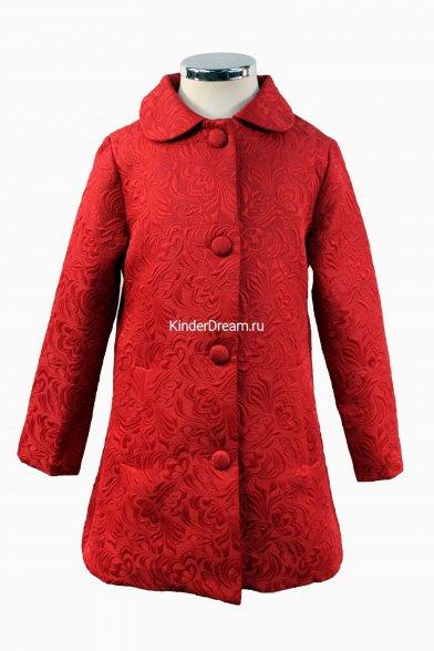 Жаккардовое пальто Vitacci 642508 красный Vitacci