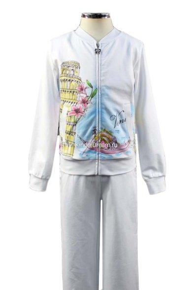 Стильный спортивный костюм Deloras 27229 белый Deloras