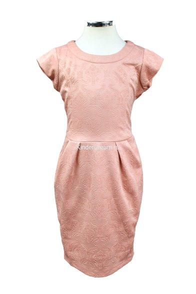 Платье отрезное по линии талии Vitacci 20140013 персиковый Vitacci