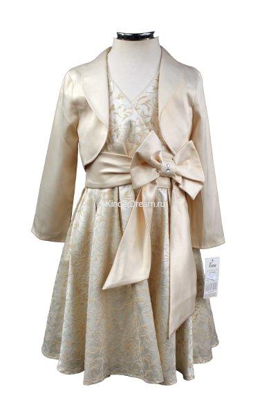 Нарядное платье с болеро Польша EVA-15429 шампань Польша