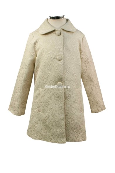 Жаккардовое пальто Vitacci 642508 бежевый Vitacci
