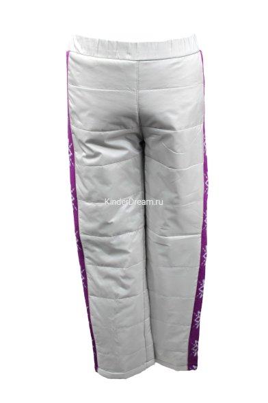 Утепленные болоньевые брюки Deloras 16253 серый/фиолетовый Deloras