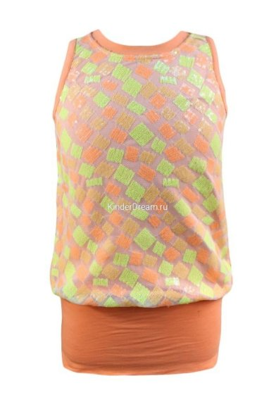 Мини-платье без рукавов Deloras 27409 оранжевый Deloras