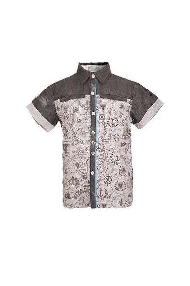 Модная рубашка Vitacci 1142284-10 серый Vitacci
