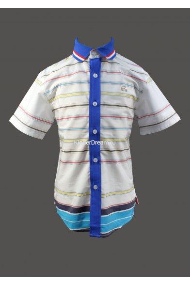 Трикотажная рубашка Deloras 51655 белый+голубой Deloras