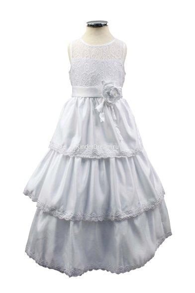 Очаровательное платье с многоярусной юбкой Vitacci 20341 белый Vitacci
