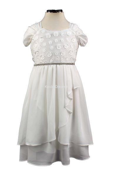 Очаровательное шифоновое платье Deloras 27691 белый Deloras