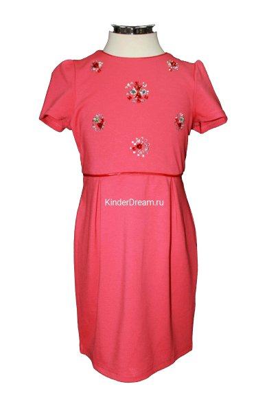 Красивое трикотажное платье Deloras 16324 красный Deloras