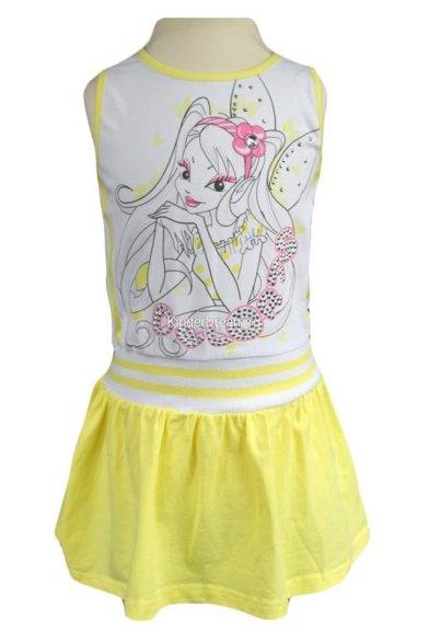 Платье с заниженной талией Deloras 10058 желтый Deloras