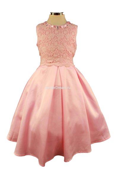 Нарядное платье без рукавов Deloras 16306 розовый Deloras