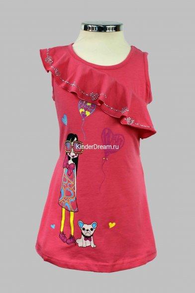 Платье с воланом Deloras 10105 малиновый Deloras
