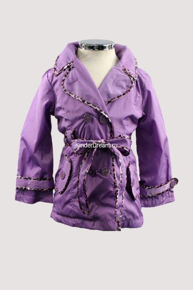 Двубортный плащ Deloras 0369 фиолетовый Deloras