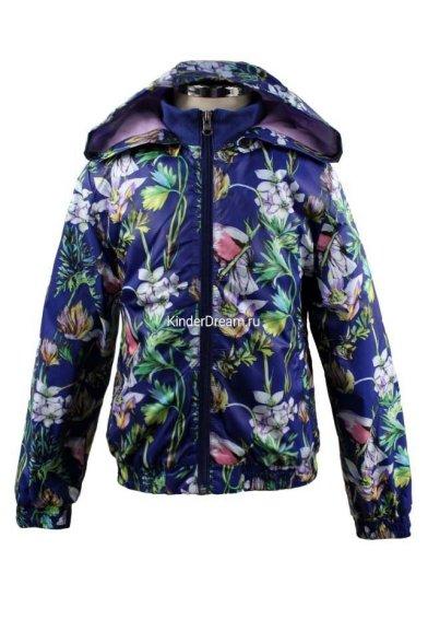 Демисезонная куртка с цветочным принтом Olimpia story 15065 Olimpia story