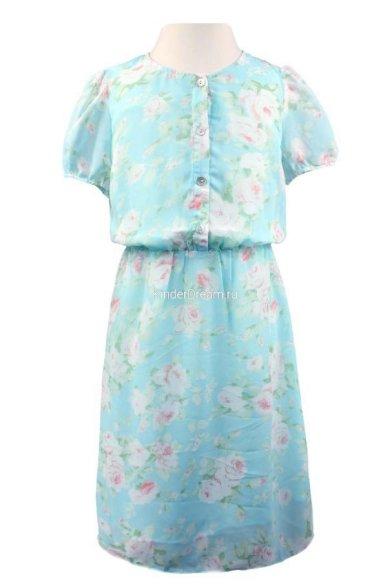 Шифоновое платье Vitacci 2152120-32 голубой Vitacci