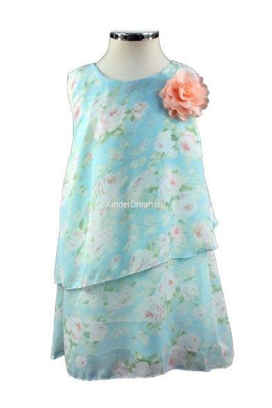 Шифоновое платье свободного кроя Vitacci 2152118-32 голубой Vitacci