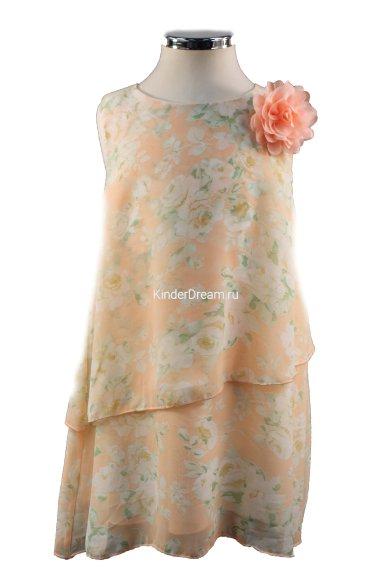 Шифоновое платье свободного кроя Vitacci 2152118-33 персиковый Vitacci