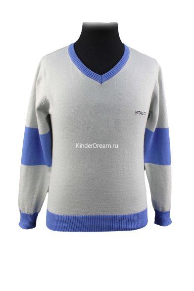Комбинированный джемпер Vitacci 1152371-10 серо-голубой Vitacci