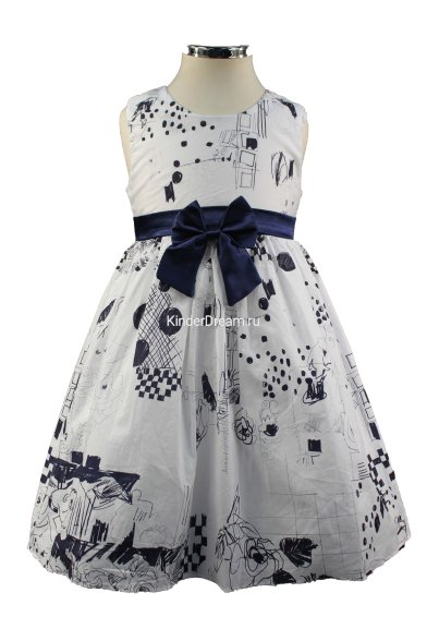 Платье без рукавов Vitacci 2152462-04 белый/синий Vitacci