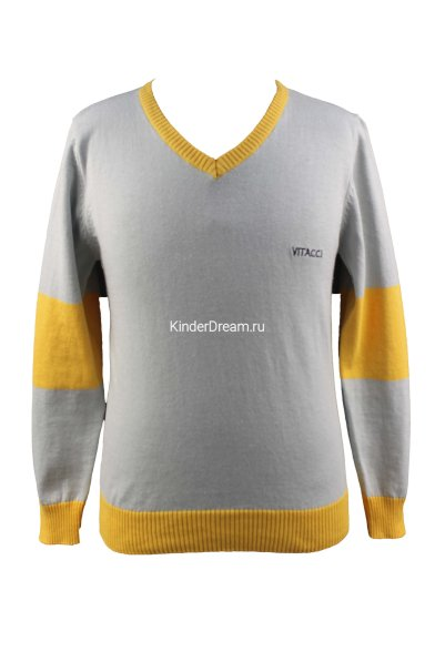 Комбинированный джемпер Vitacci 1152371-14 серый/жёлтый Vitacci