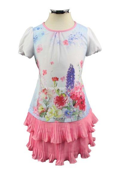 """Платье """"цветочная поляна"""" Deloras 16512 розовый Deloras"""