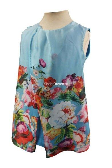 "Майка ""цветочная поляна"" Deloras 28190 голубой Deloras"