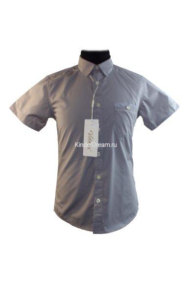 Рубашка с короткими рукавами Vitacci 1153225-02 серый Vitacci