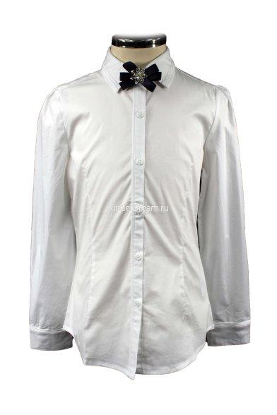 Блузка с брошью Vitacci 2153032-01 белый Vitacci