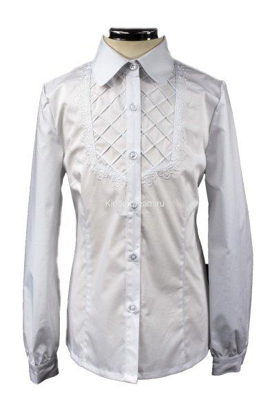 Блузка с кокеткой Deloras 60521 белый Deloras
